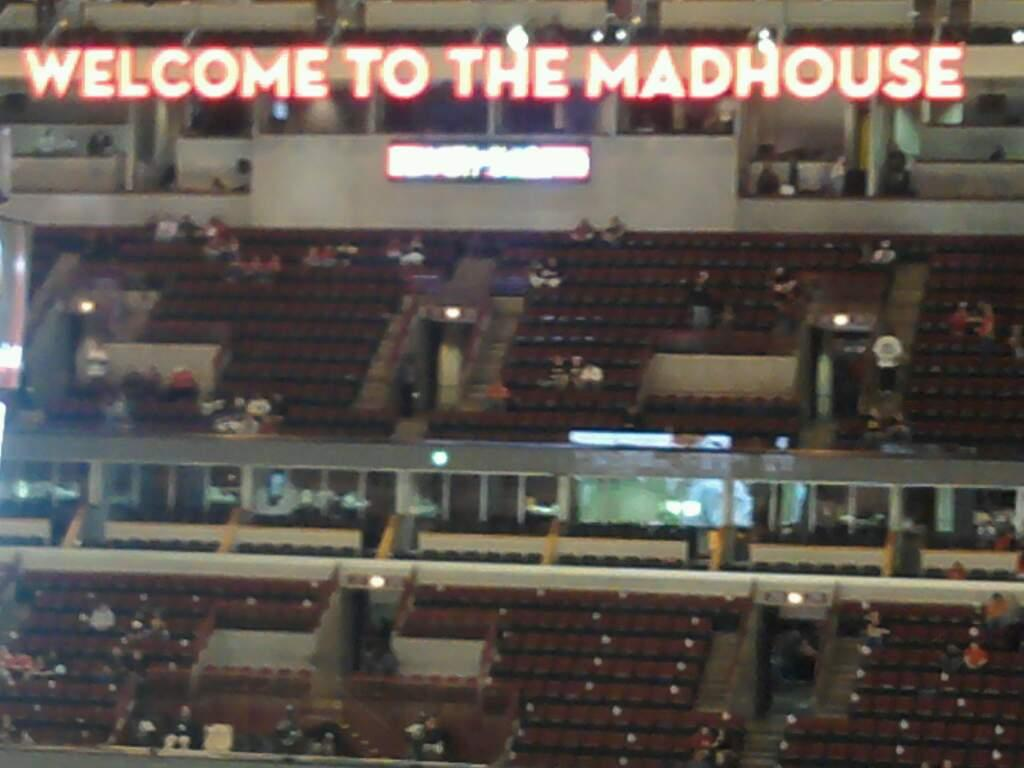 United Center Section 314 Row 9 Seat 1
