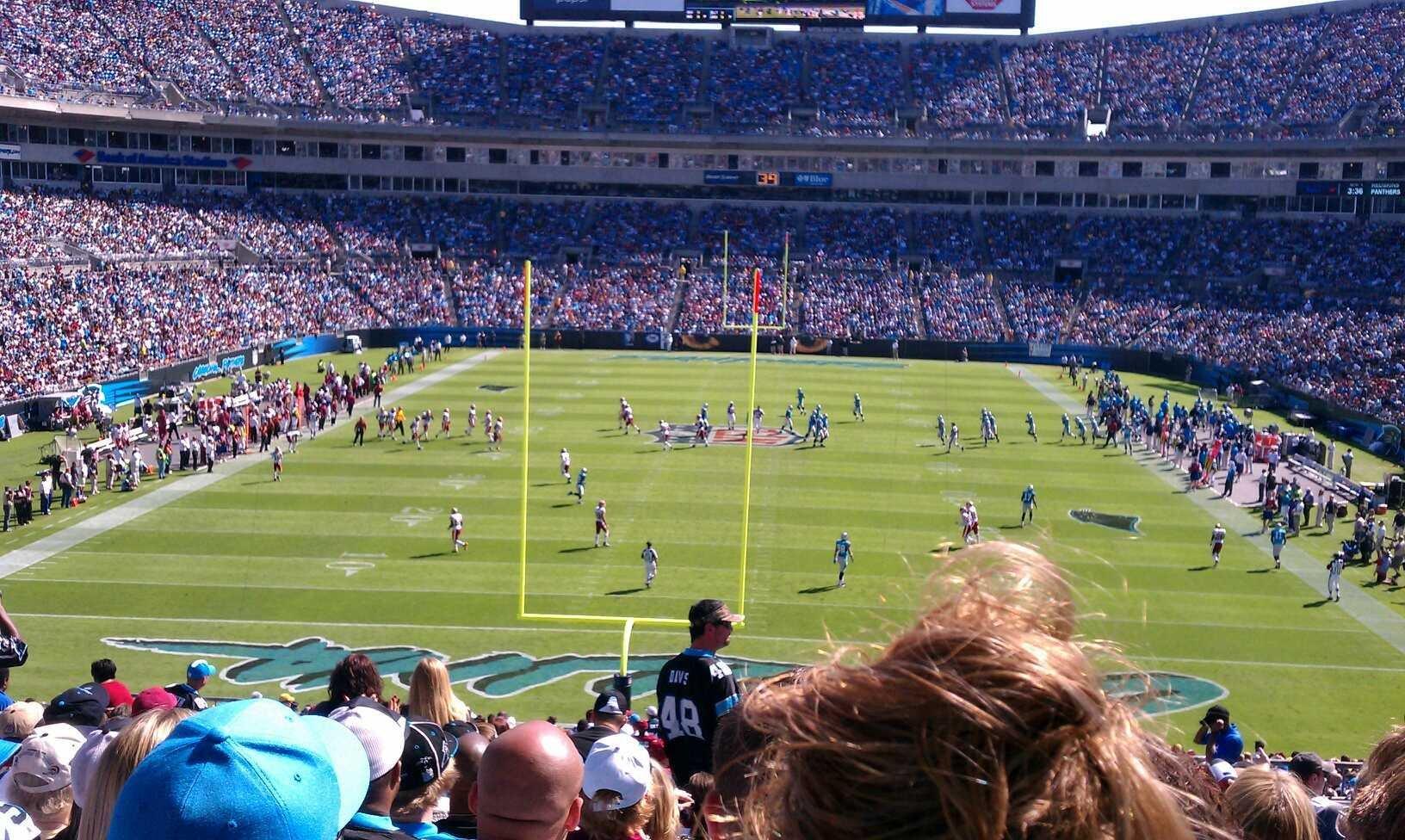 Bank of America Stadium Section 202 Row 16 Seat 9