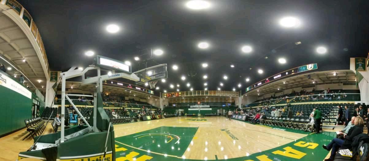 War Memorial Gymnasium Section north baseline Row 1 Seat 1