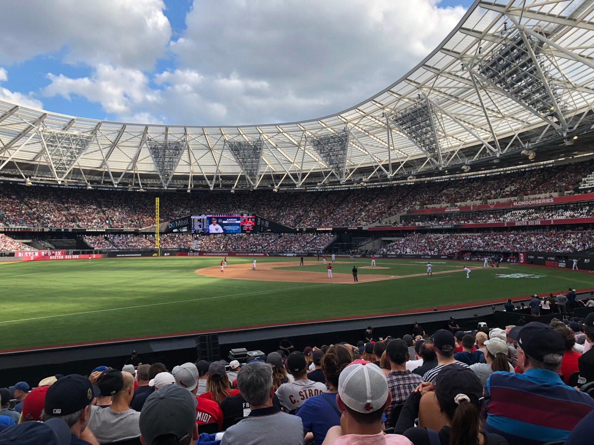 London Stadium Section 054 Row 15