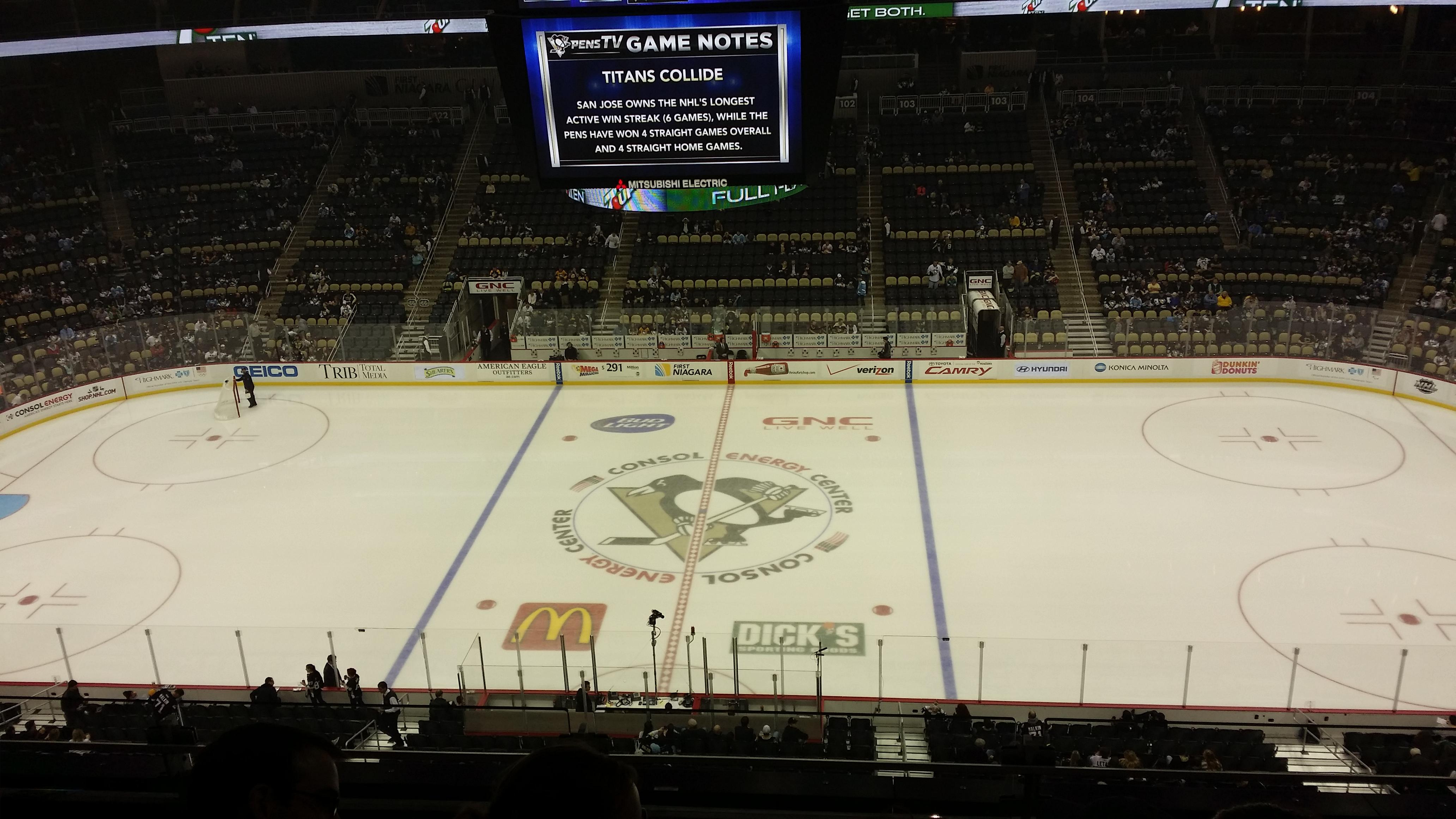 Ppg Paints Arena Section 219 Pittsburgh Penguins