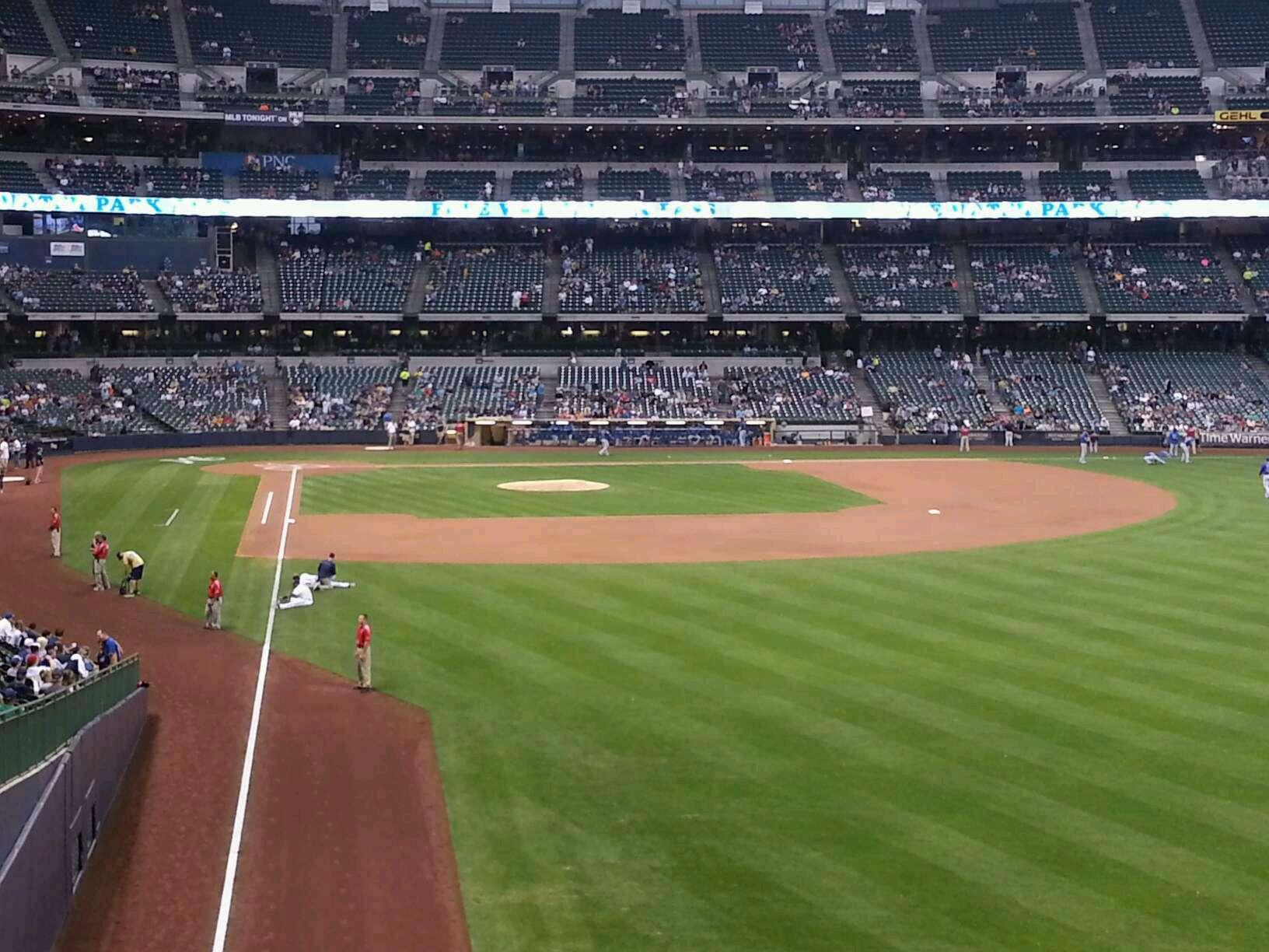 American Family Field Section 205 Row 2 Seat 2