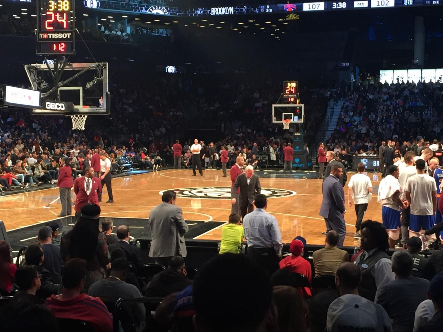 Barclays Center Section 15 Row 5 Seat 4