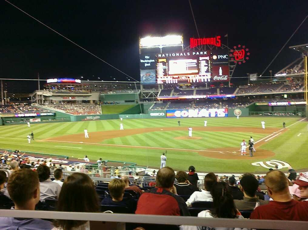 Nationals Park Section 120 Row K Seat 3