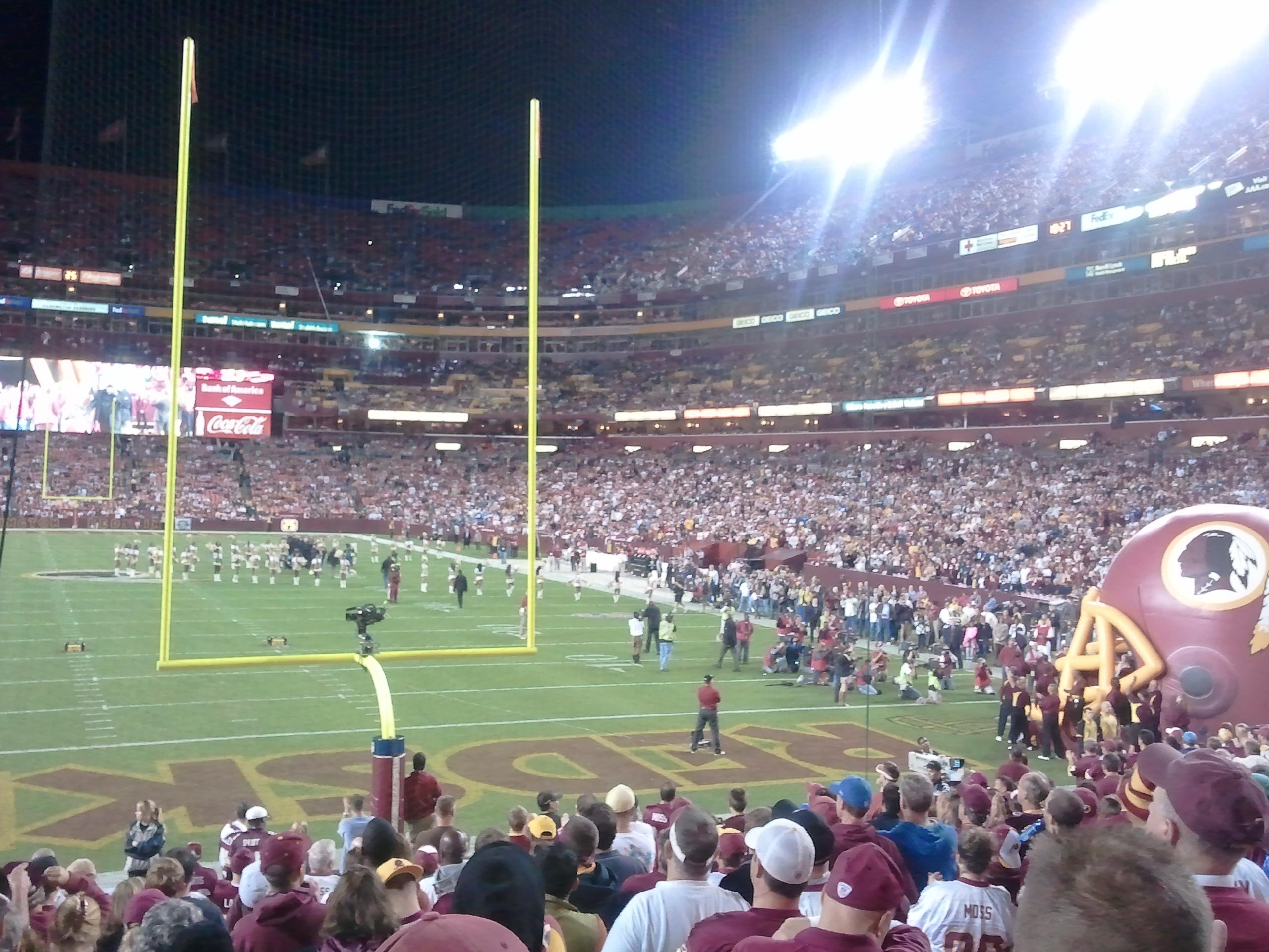 FedEx Field Section 111 Row 16 Seat 22