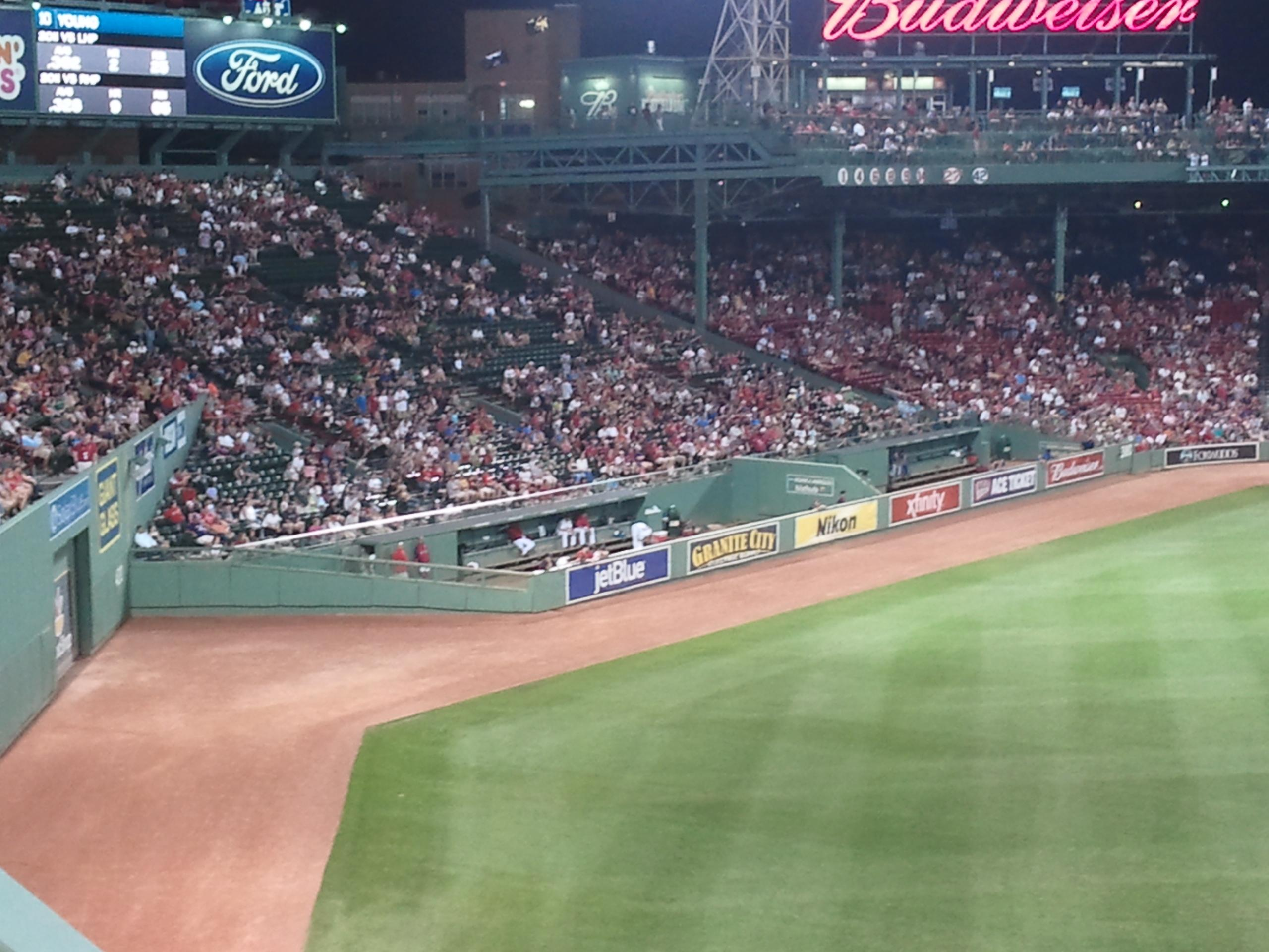 Fenway Park Section Green Monster 6 Row 2 Seat 6