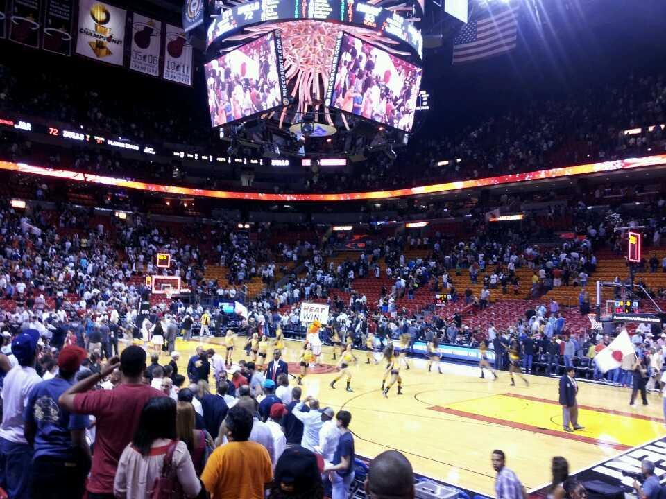 Americanairlines Arena Section 105 Miami Heat