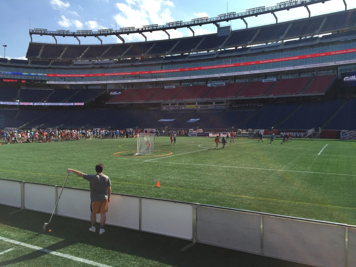 Gillette Stadium Section 105 Row 1 Seat 5