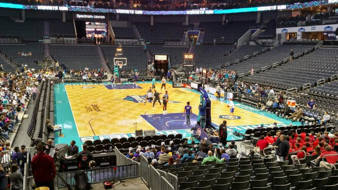Spectrum Center Section 110 Row P Seat 15