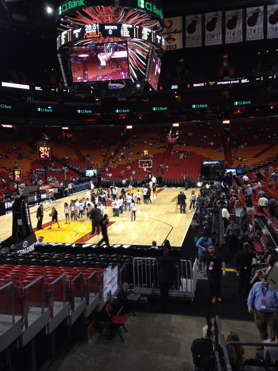 Americanairlines Arena Section 124 Miami Heat