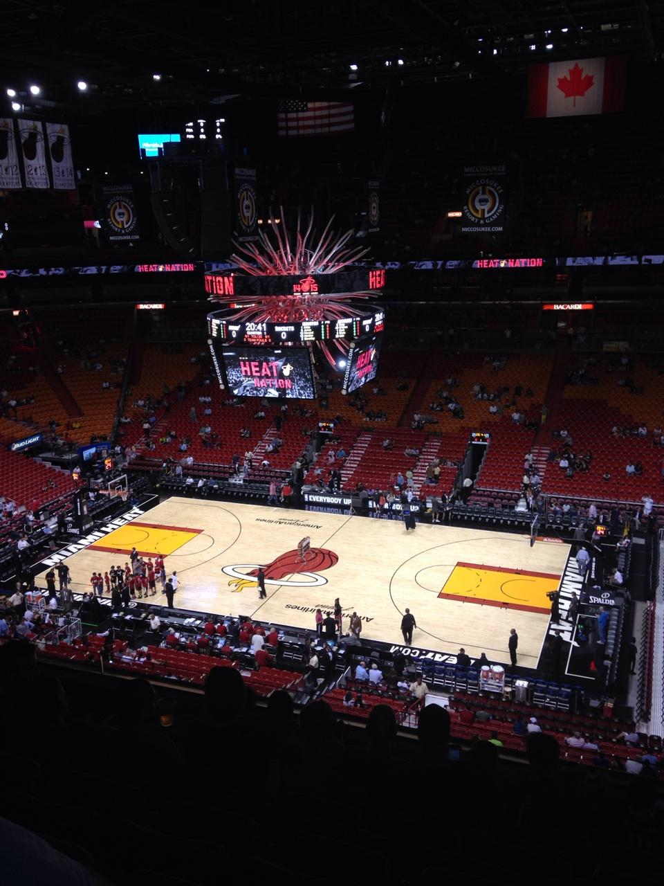 Americanairlines Arena Section 307 Miami Heat