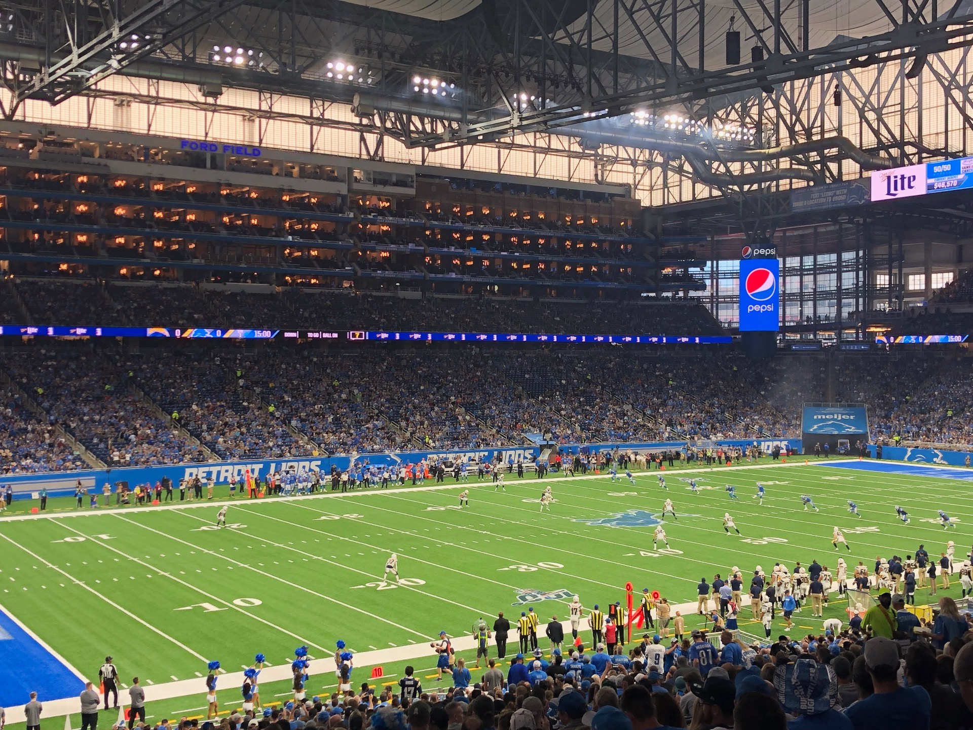 Ford Field Section 122 Row 38 Seat 22