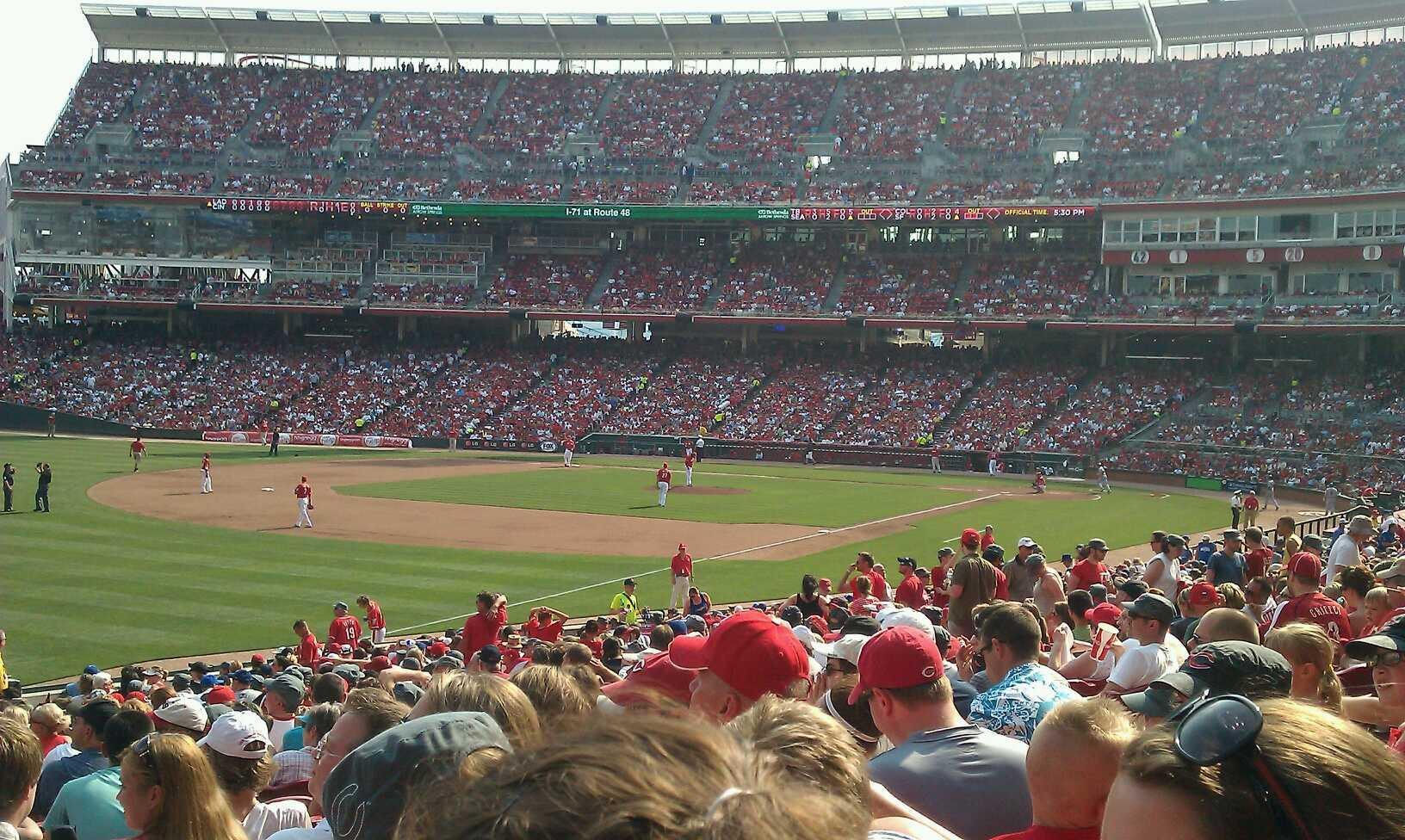 Great American Ball Park Section 110 Row EE Seat 11