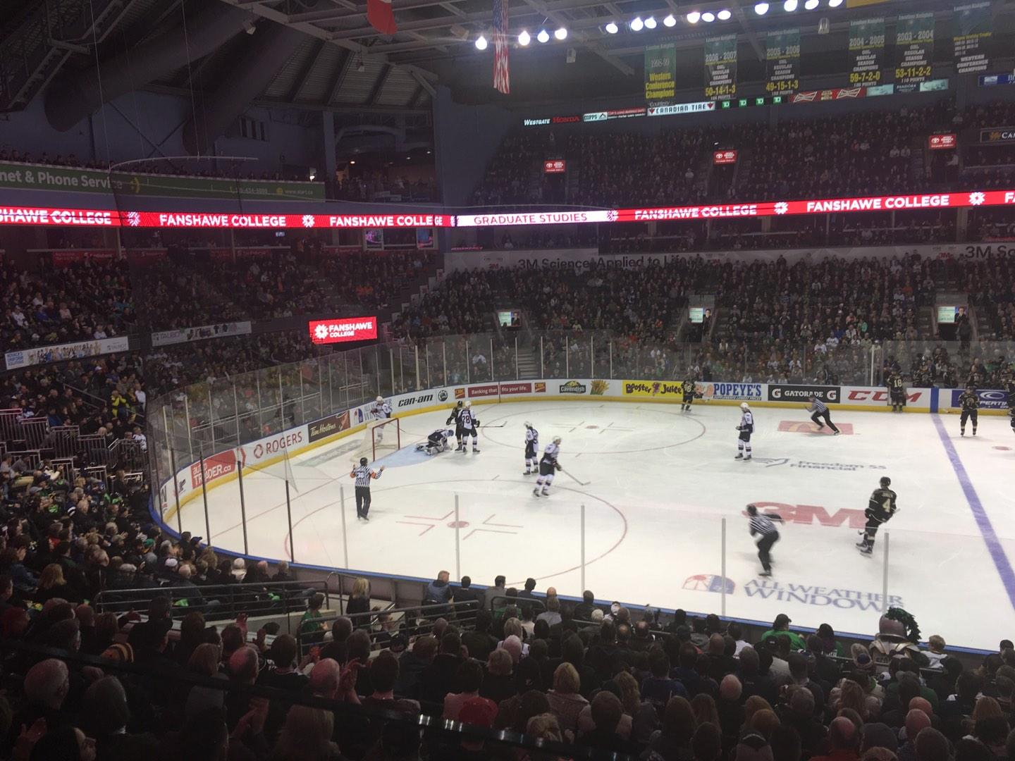 Budweiser Gardens Section Suite Row 2 Seat 34