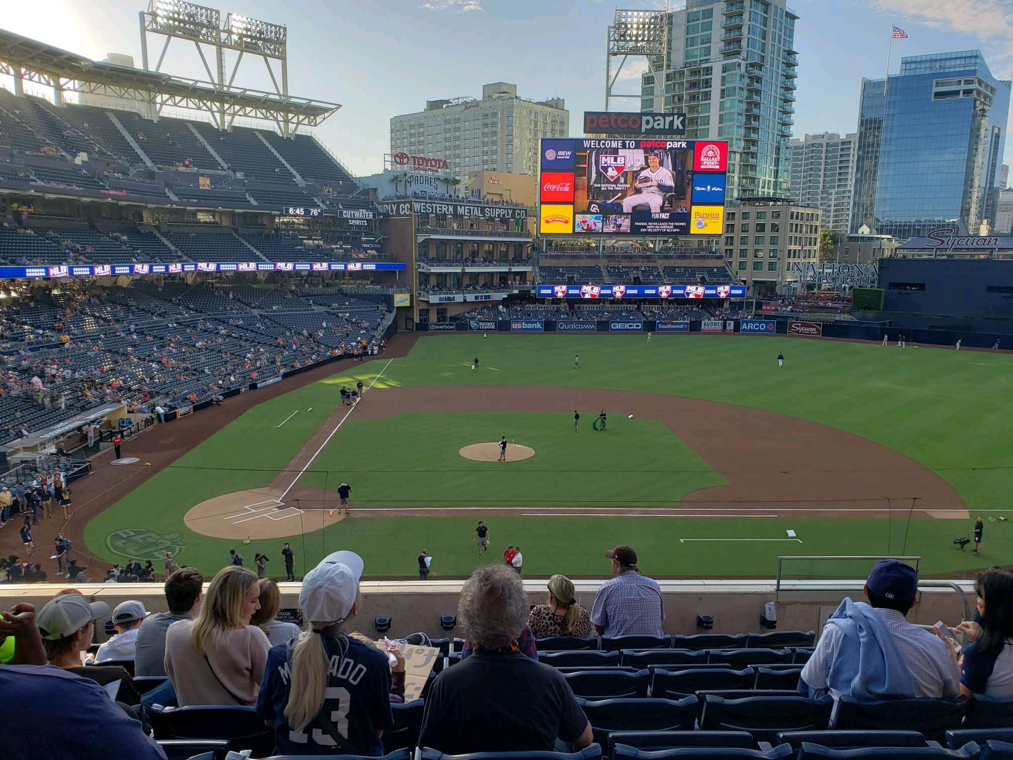 PETCO Park Section 205 Row 8 Seat 8