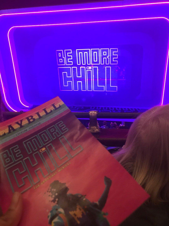 Lyceum Theatre (Broadway) Section Mezzanine C Row B Seat 101