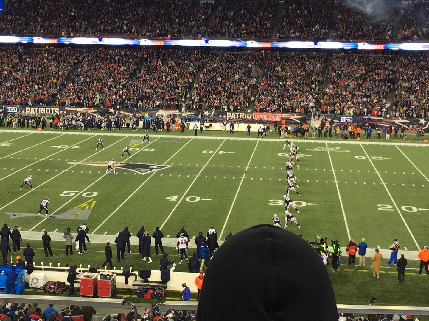 Gillette Stadium Section CL30 Row B Seat 10
