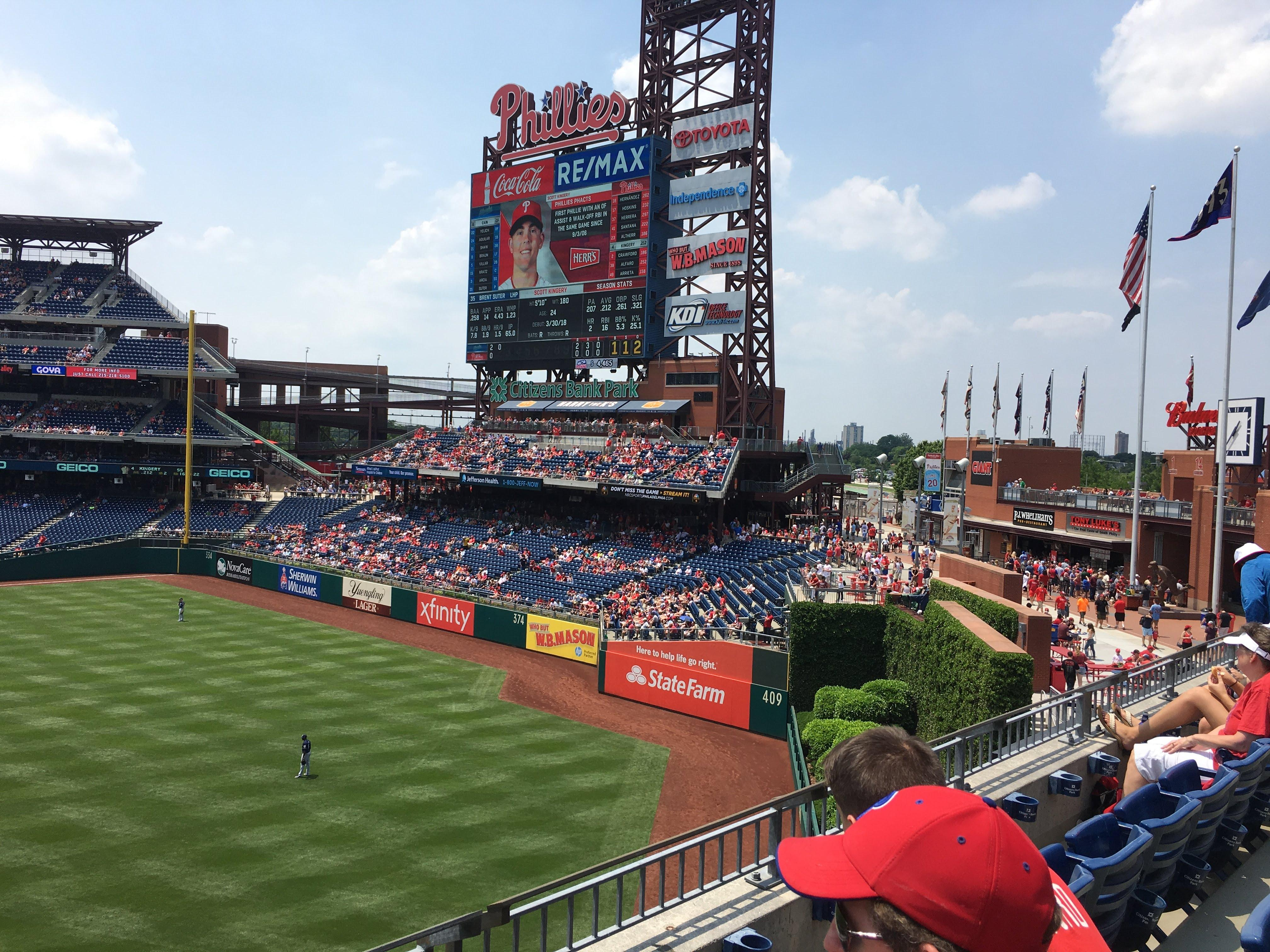 Citizens Bank Park Section 201 Row 3 Seat 24