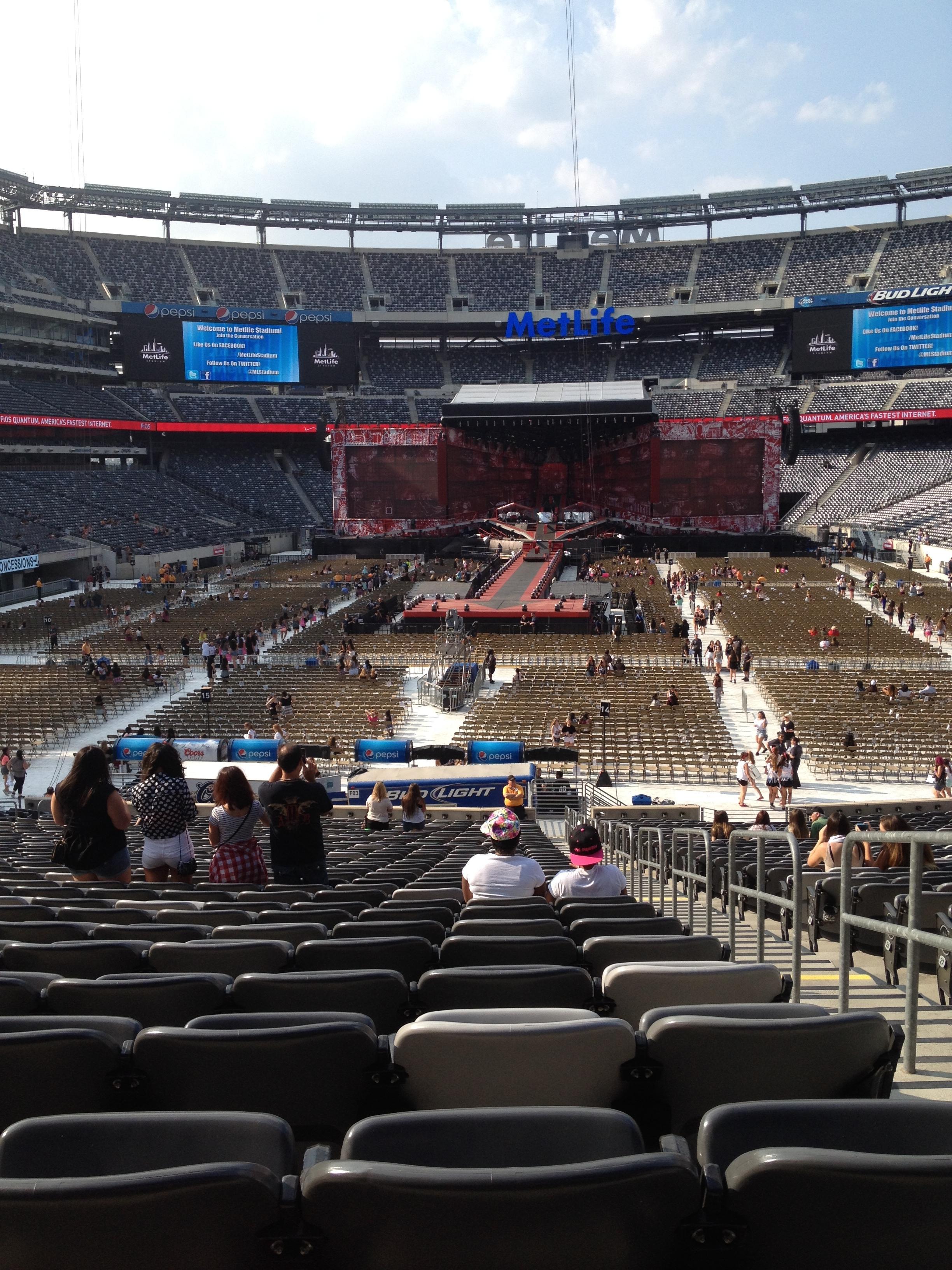 MetLife Stadium Section 124 Concert Seating ...