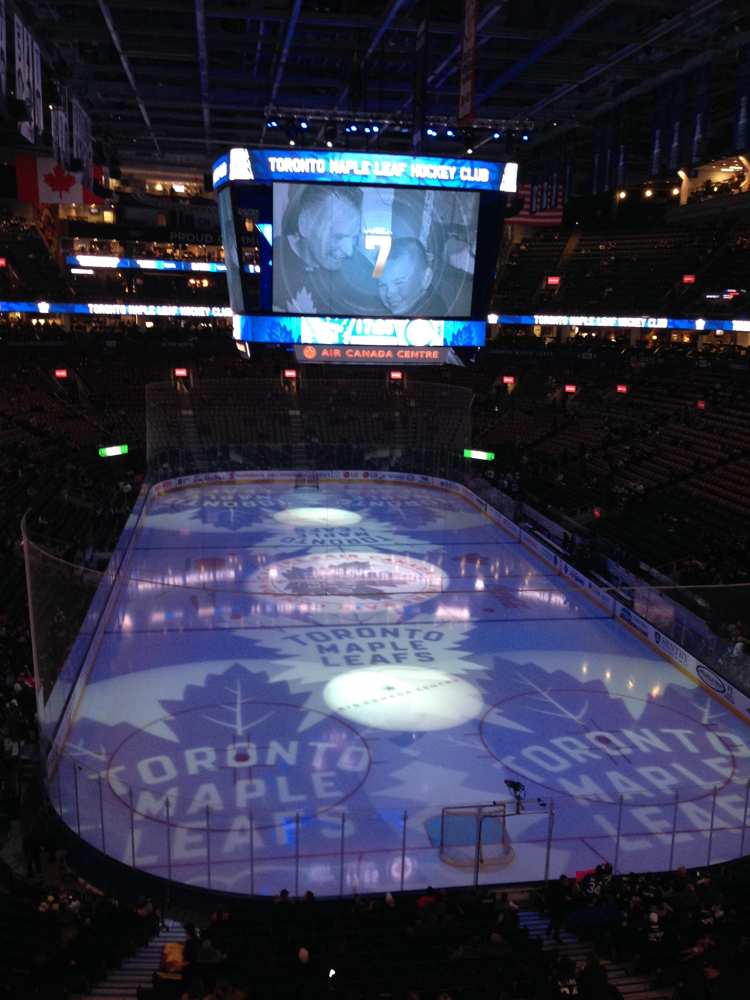 Scotiabank Arena Section 304 Row 1 Seat 3, 4