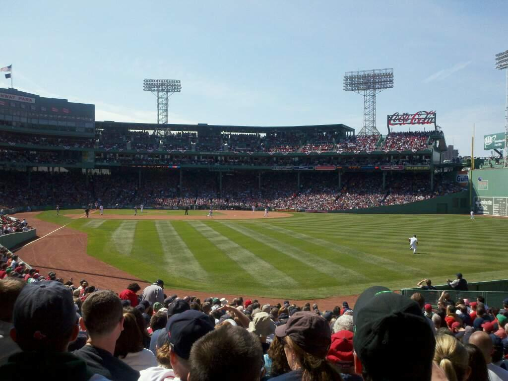 Fenway Park Section Right Field Box 89 Row QQ Seat 9