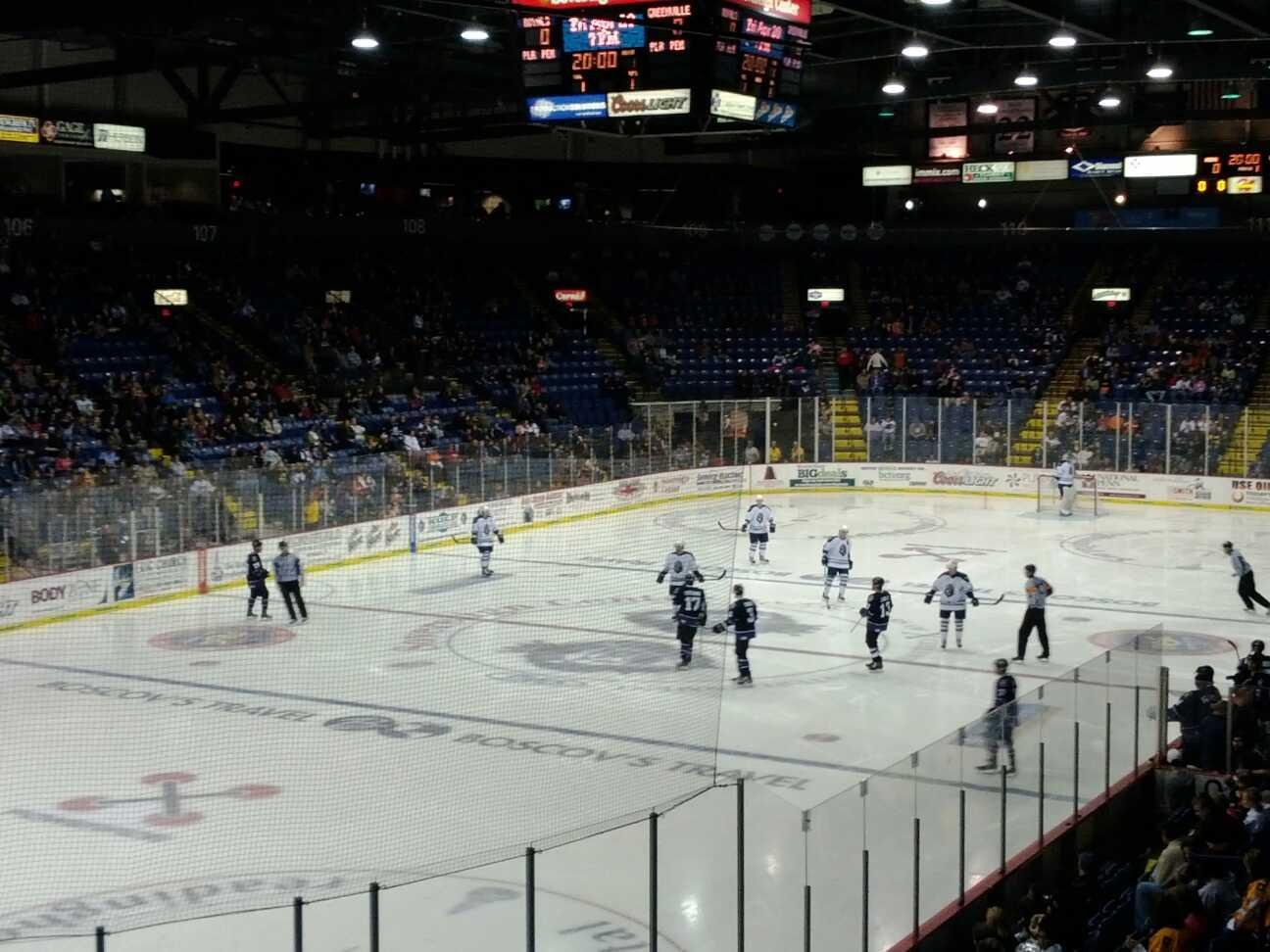 Santander Arena Section 121 Row R Seat 5 Reading Royals