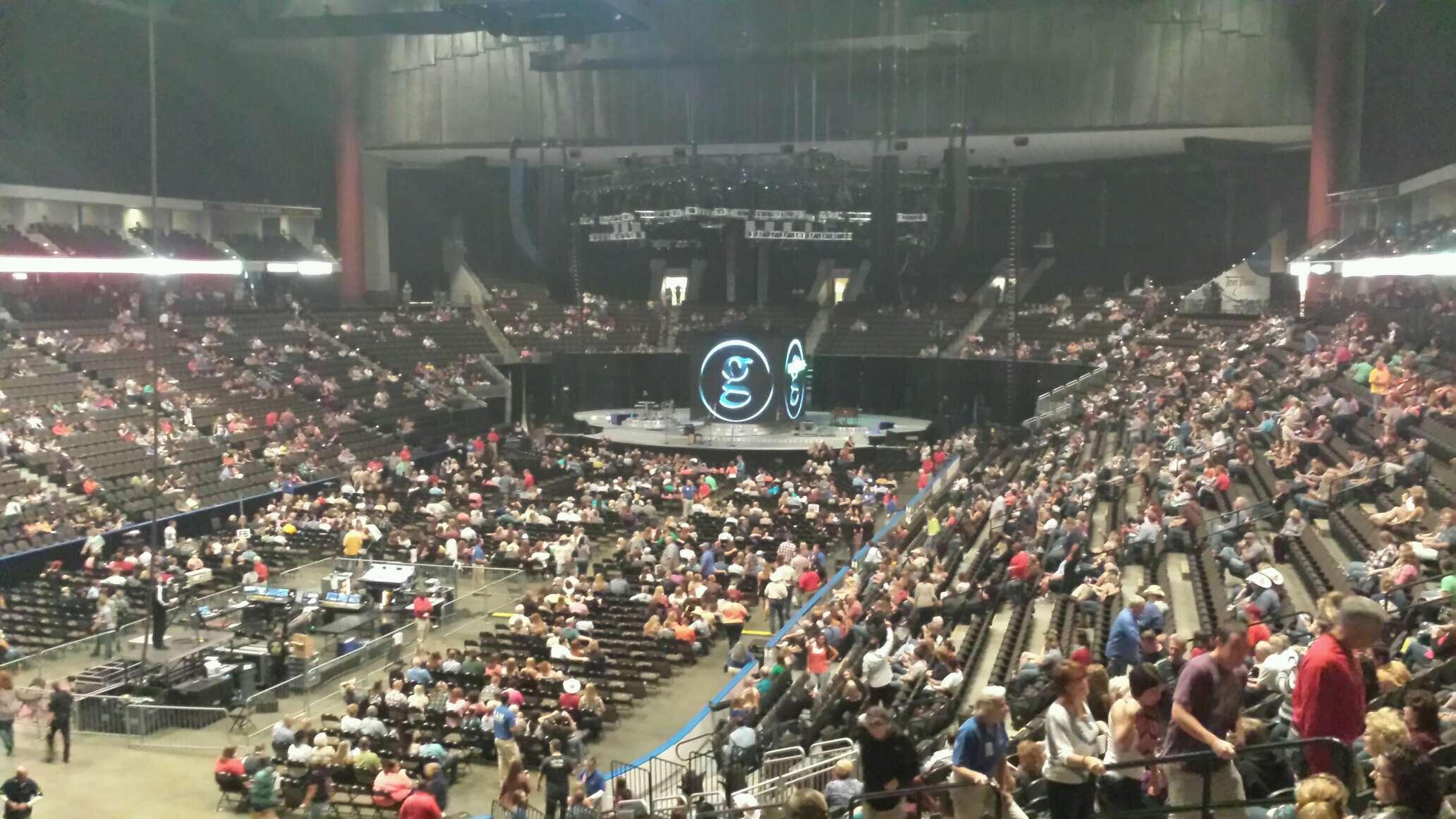 VyStar Veterans Memorial Arena Section 107 Row AA Seat 11