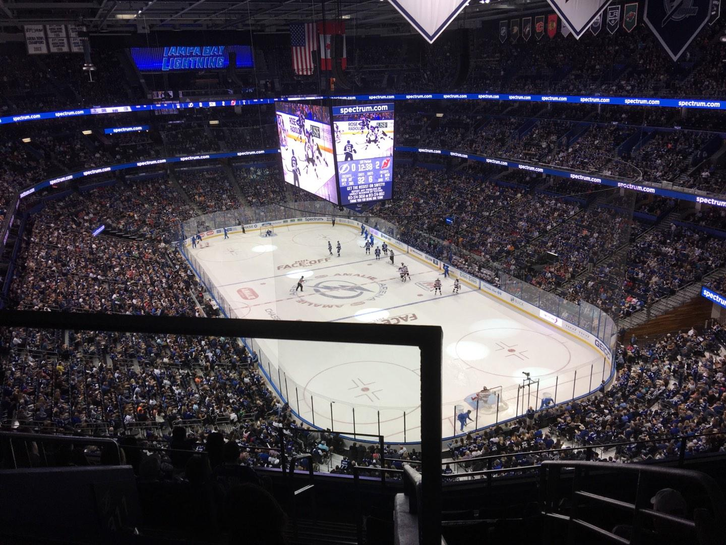 Amalie Arena Section 310 Row H Seat 22