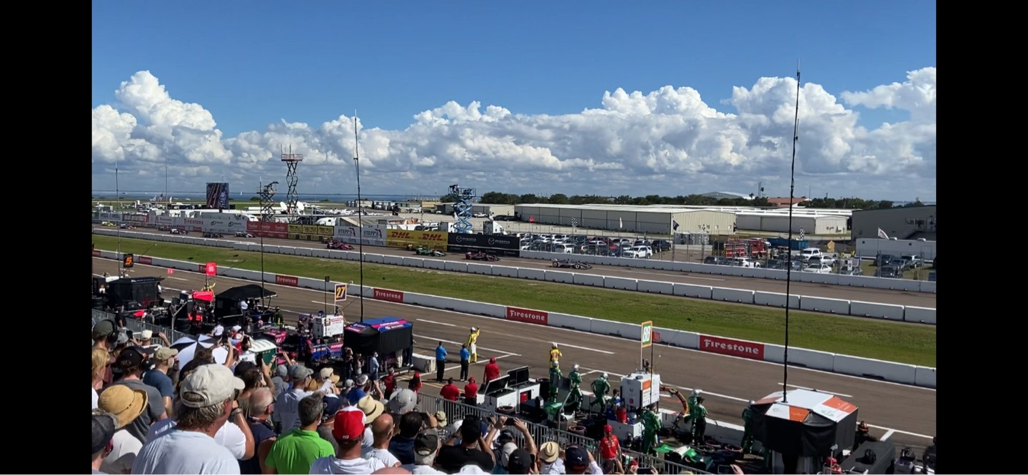 Indy Car Road Coarse St. Petersburg Section Grand Stand 7 Row 25