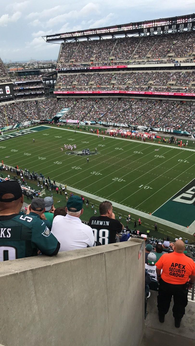 Lincoln Financial Field Section 206 Row 9 Seat 3
