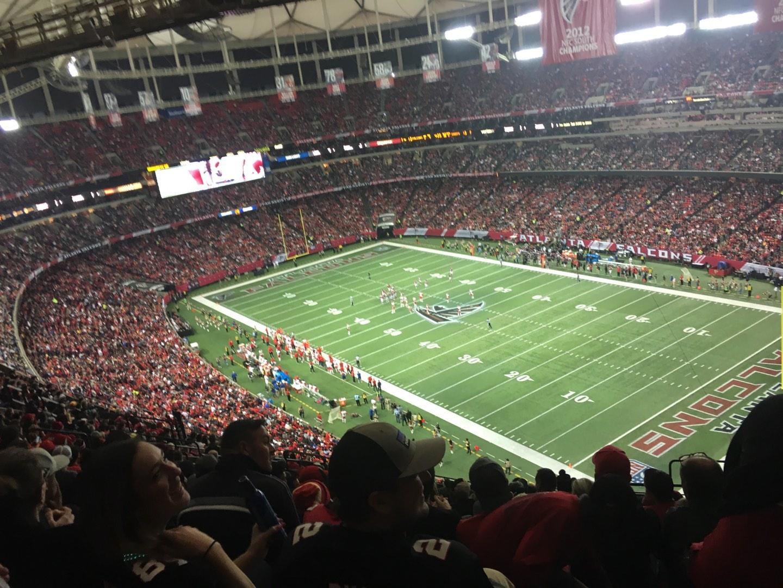 Georgia Dome Section 314 Row 20 Seat 21