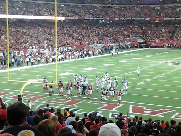 Georgia Dome Section 104 Row 28 Seat 17 Atlanta Falcons