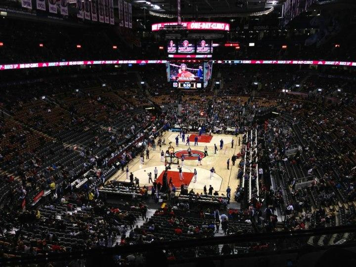 Toronto Raptors Seat View for Air Canada Centre Section 301, Row 4, Seat 10