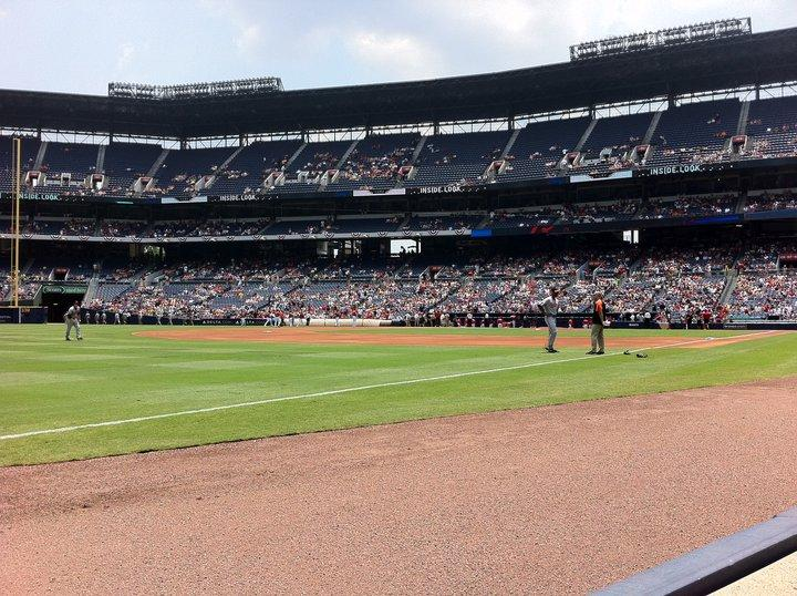 Turner Field Section 122 L Row 1 Seat 112