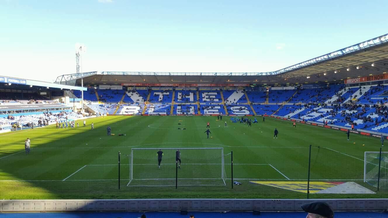 St Andrew's Stadium Section GM3 Row 22 Seat 98