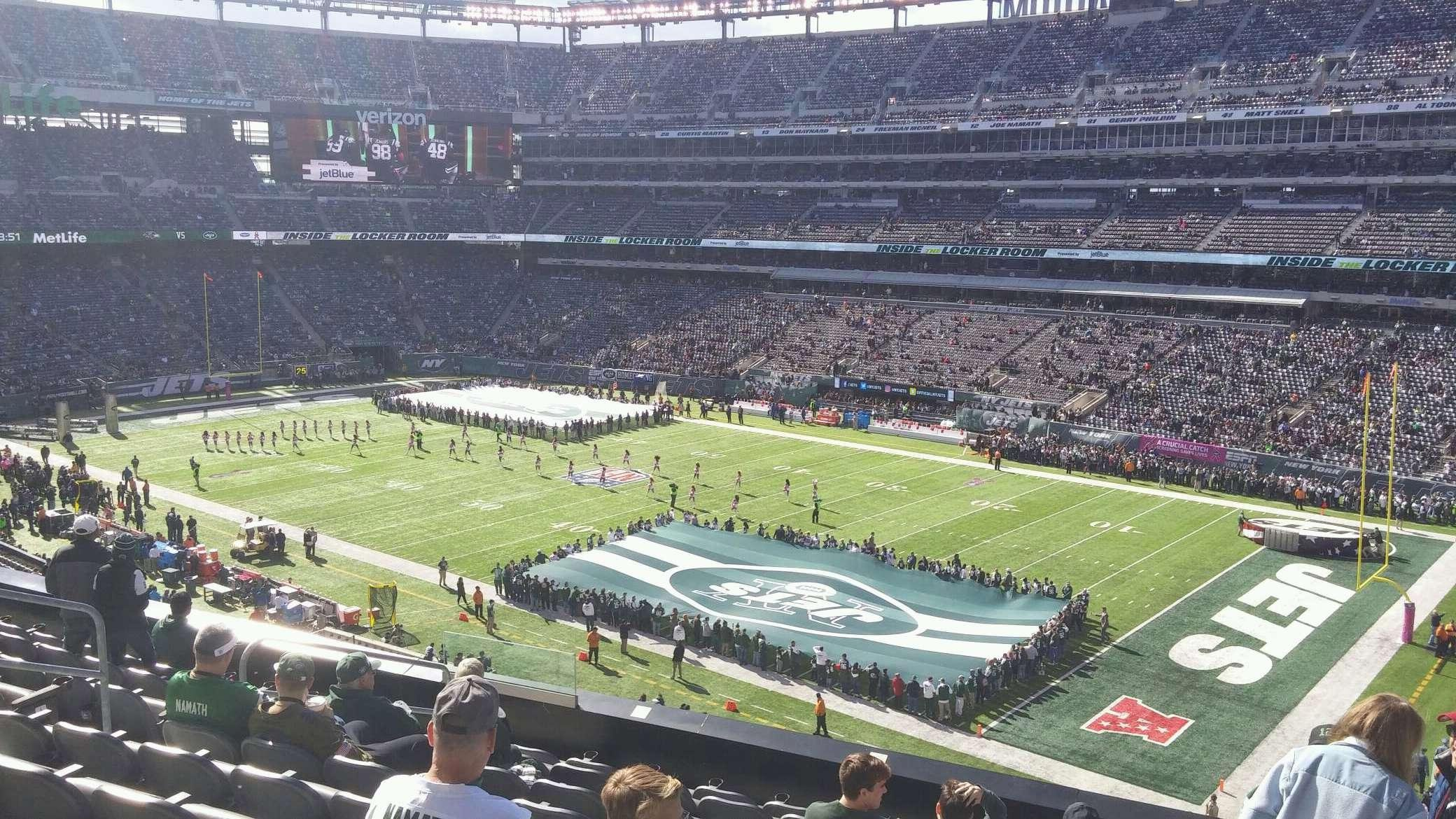 MetLife Stadium Section 208 Row 9 Seat 13