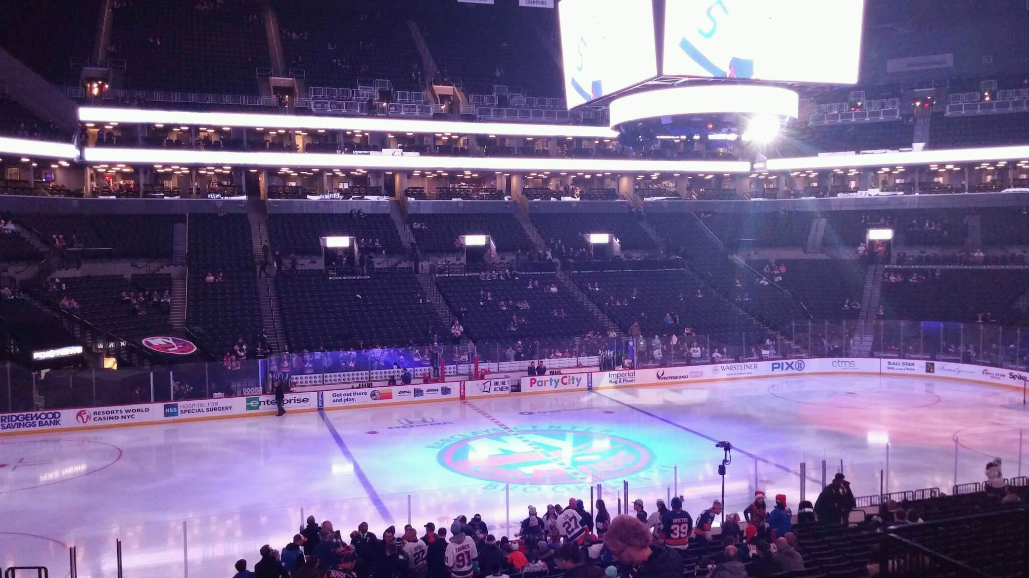 Barclays Center Section 126 Row 4 Seat 7