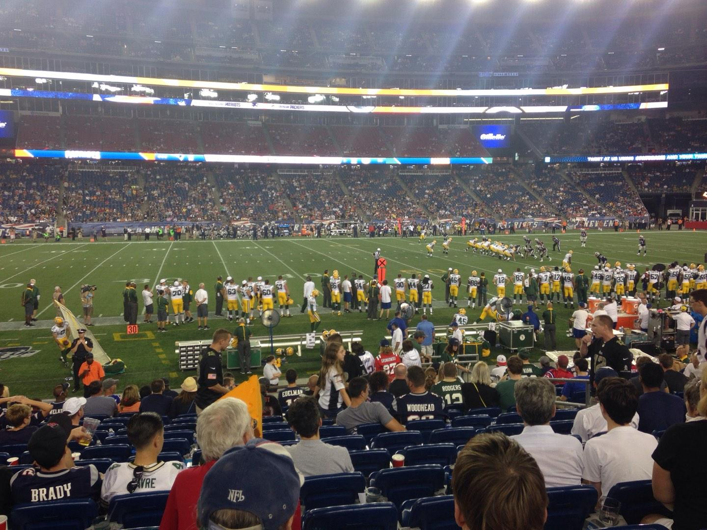 Gillette Stadium Section 133 Row 15 Seat 8 New England