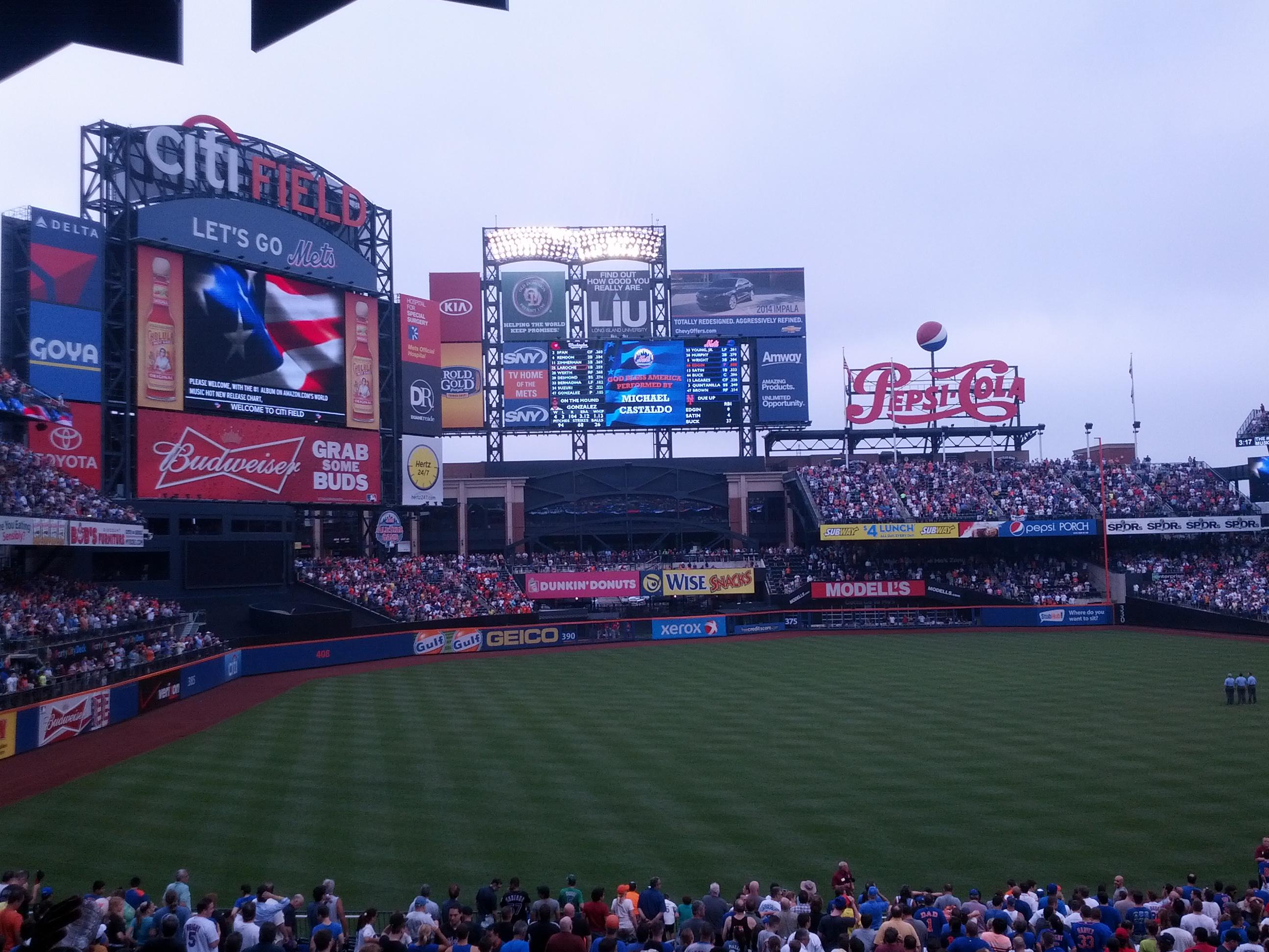 Citi Field Section 127 Row 25 Seat 9