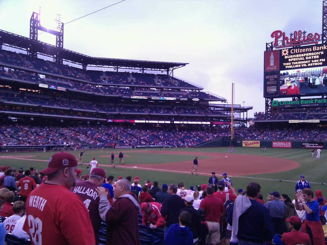 Citizens Bank Park Section 113 Row 15 Seat 13
