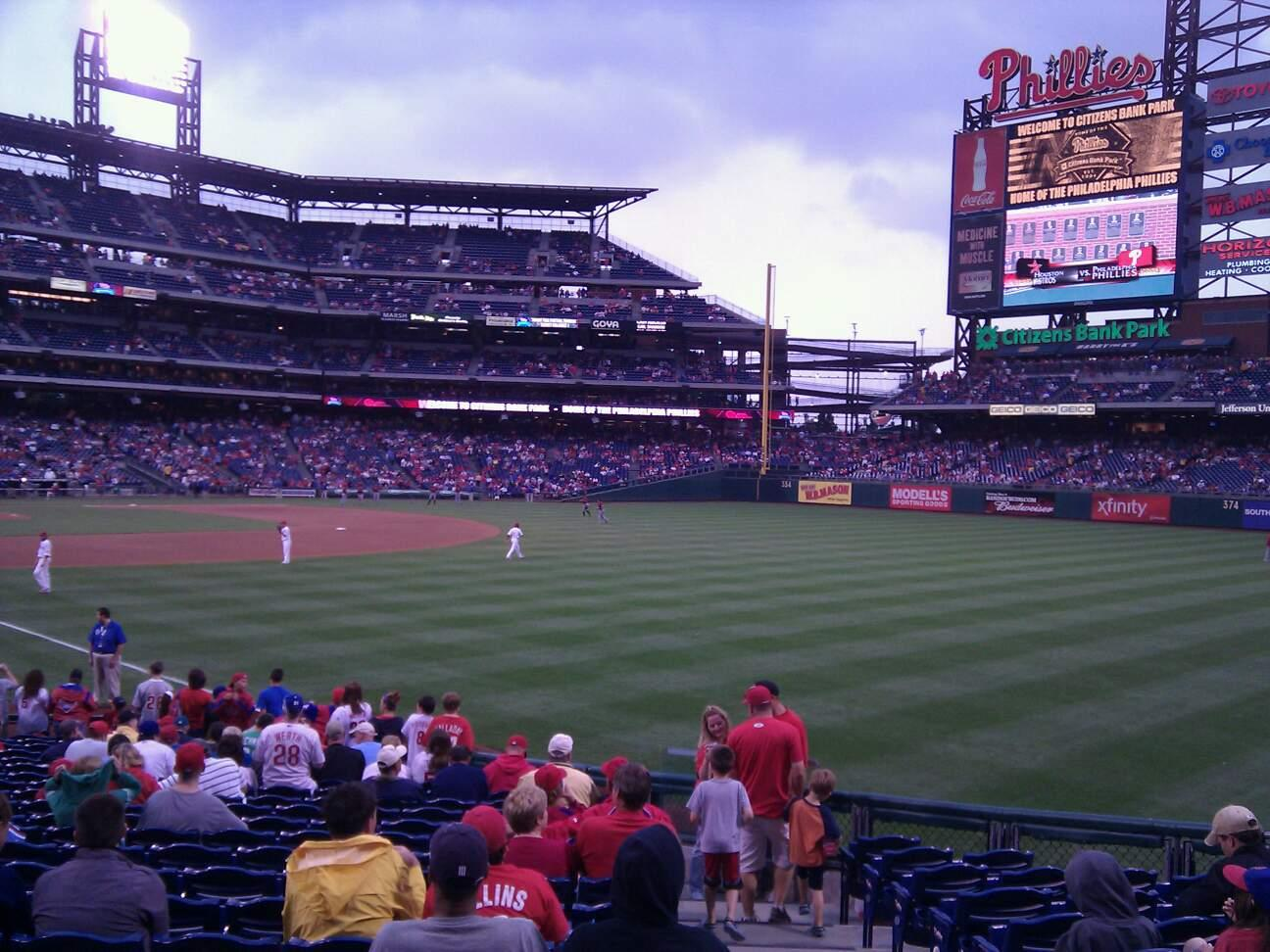 Citizens Bank Park Section 109 Row 22 Seat 1