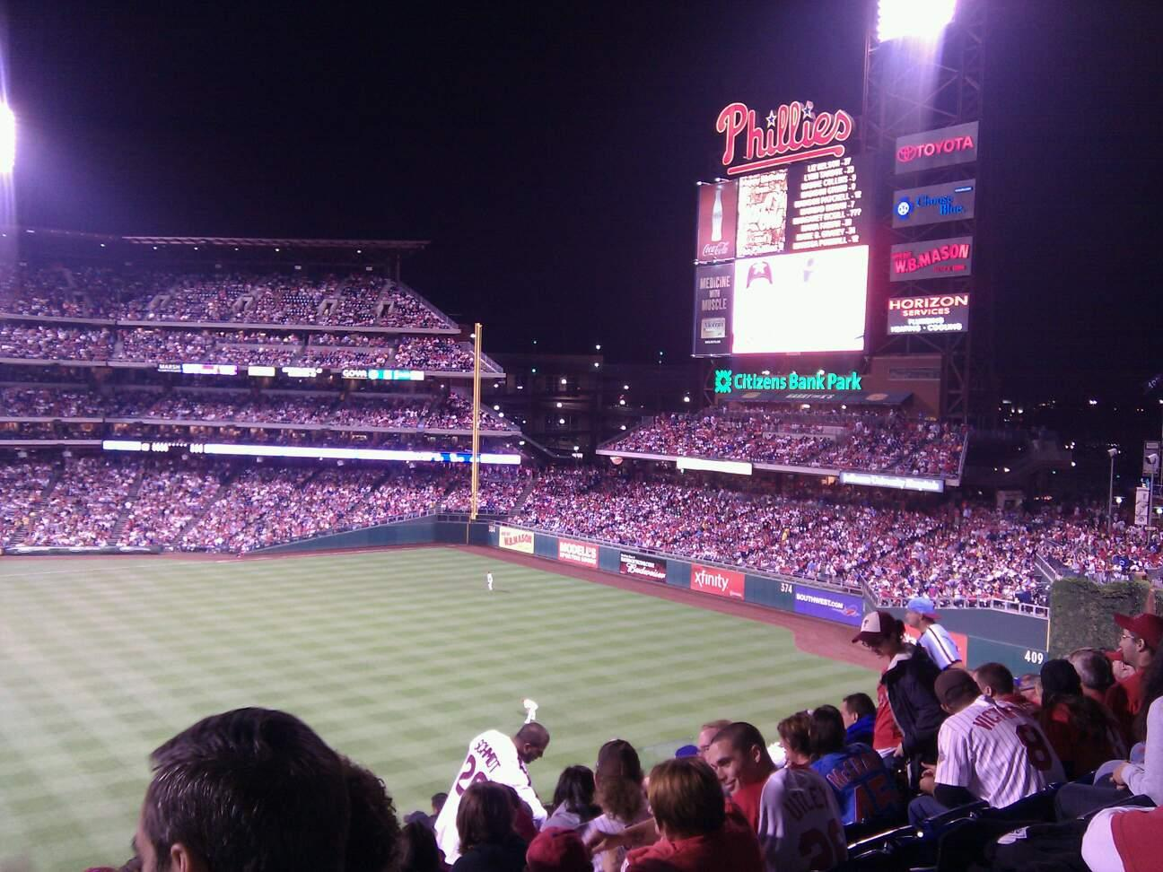 Citizens Bank Park Section 203 Row 11 Seat 16