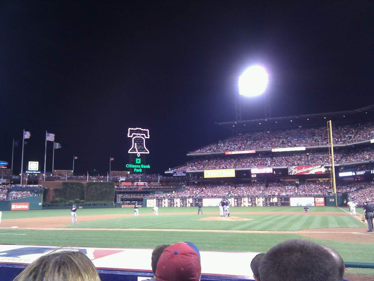 Citizens Bank Park Section A Row 7 Seat 9