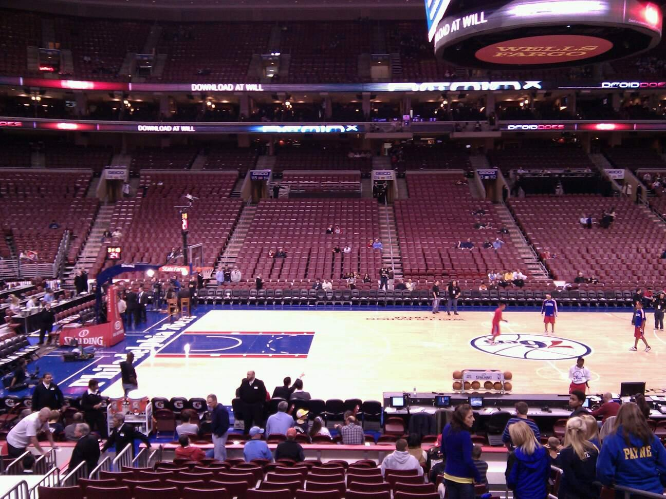Wells Fargo Center Section 124 Row 15 Seat 17