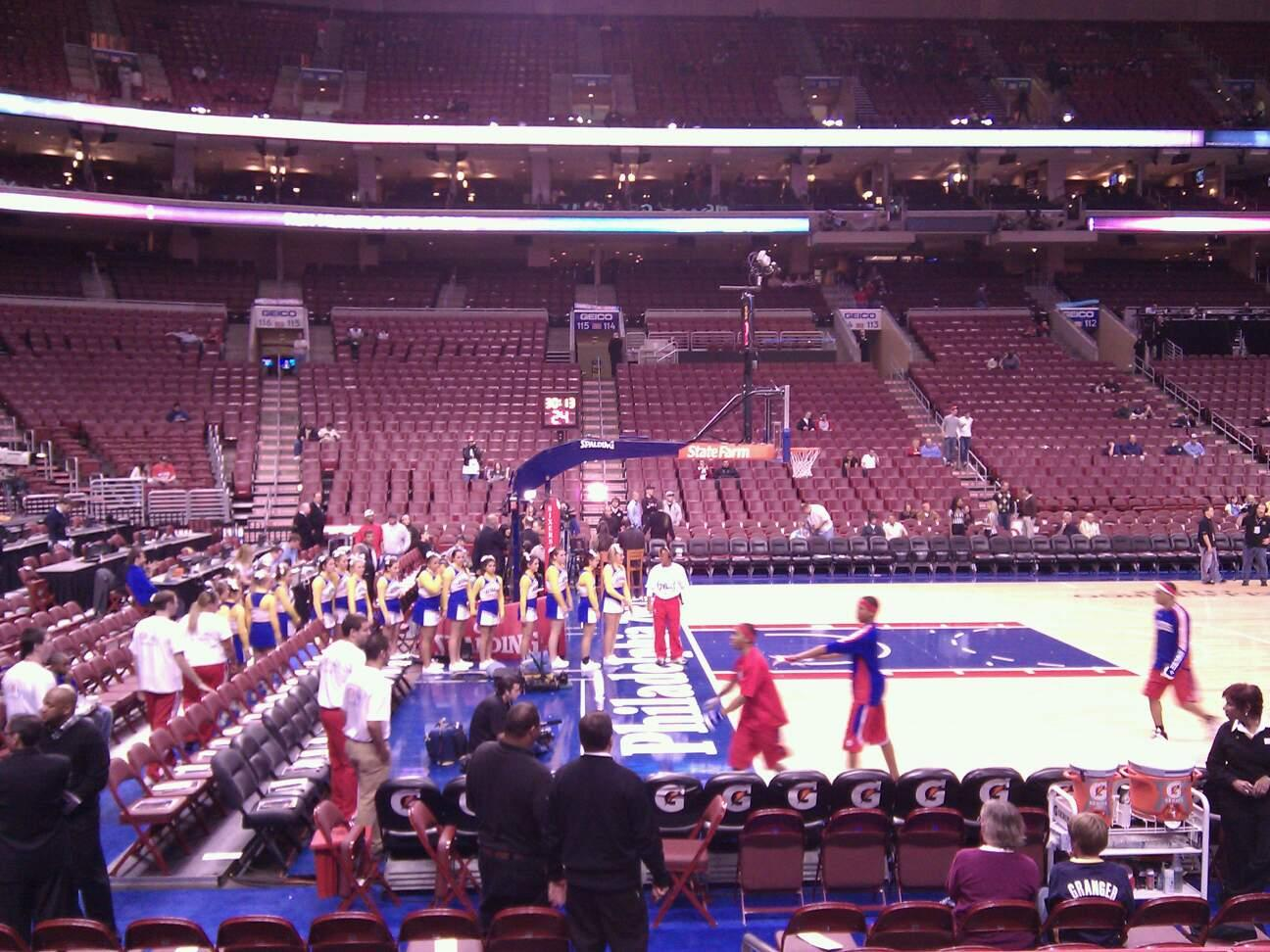 Wells Fargo Center Section 123 Row 7 Seat 14