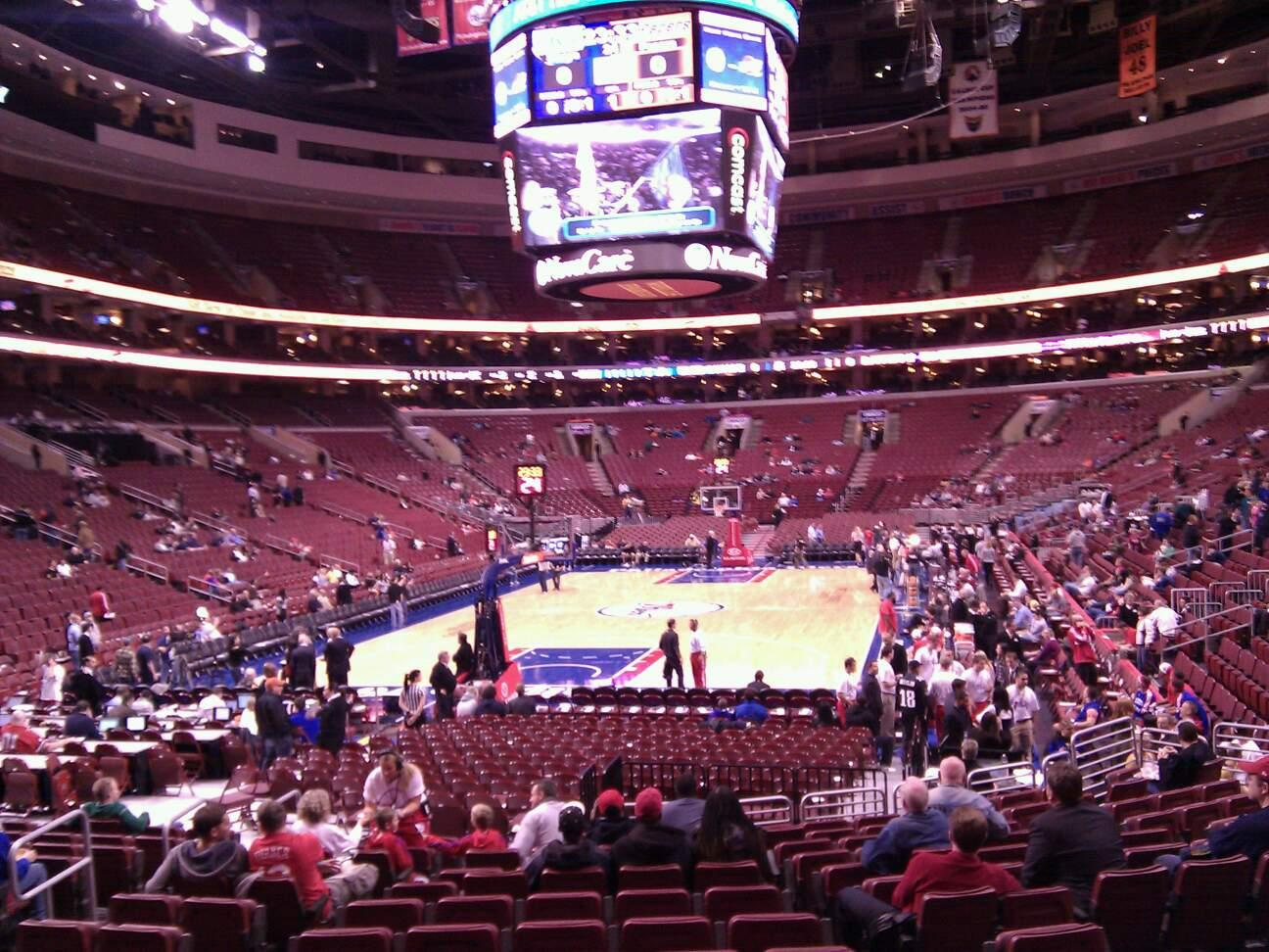 Wells Fargo Center Section 120 Row 15 Seat 8