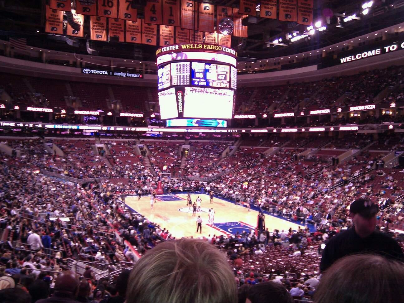 Wells Fargo Center Section 105 Row 26 Seat 22