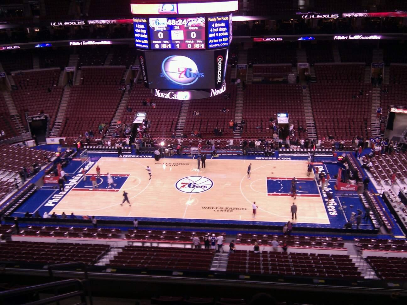 Wells Fargo Center Section 214 Row 7 Seat 1