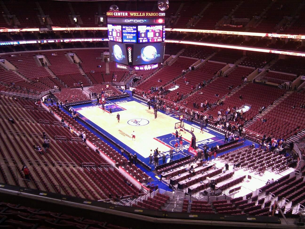 Wells Fargo Center Section 218 Row 7 Seat 7
