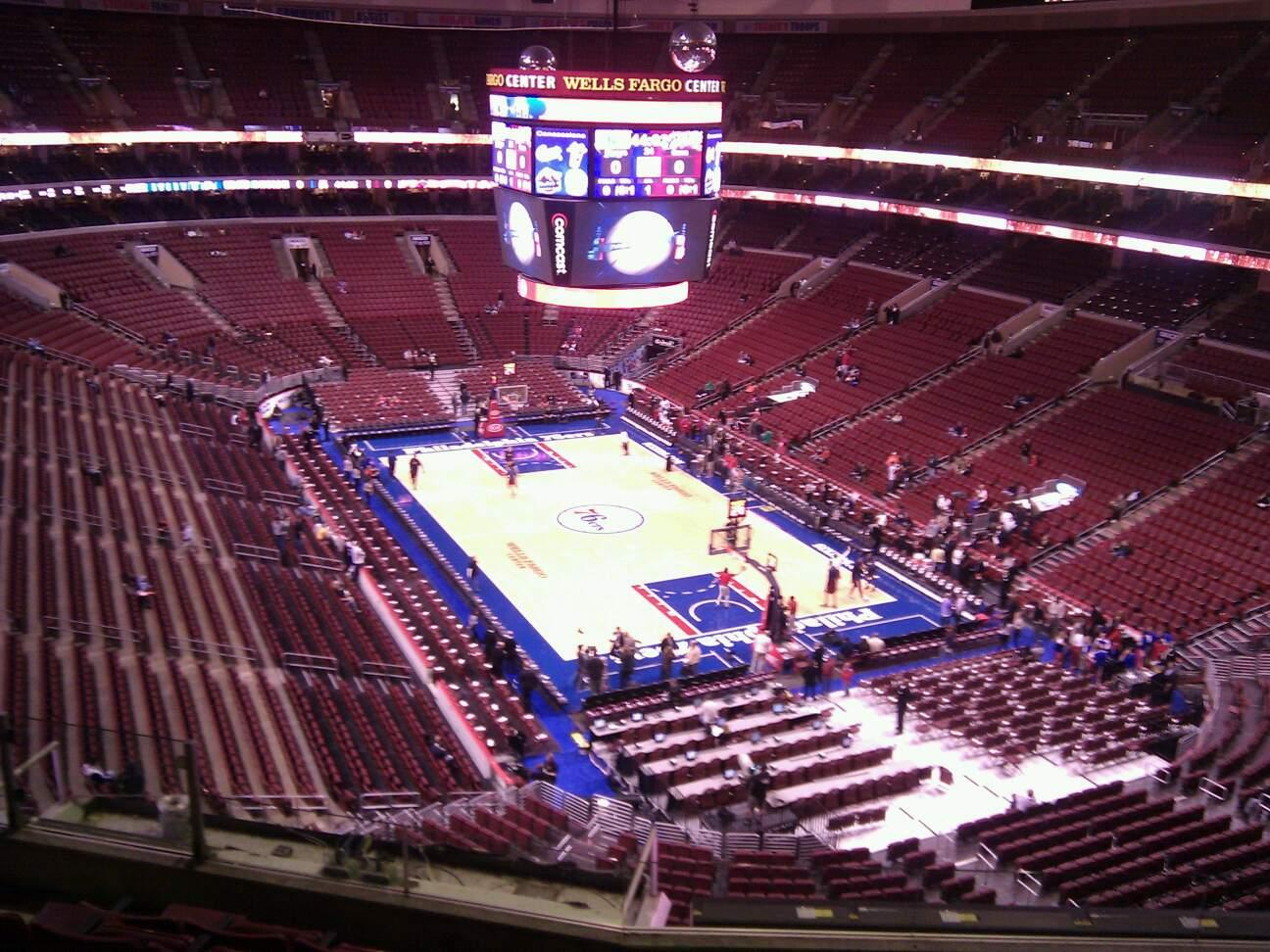 Wells Fargo Center Section 217a Row 7 Seat 4